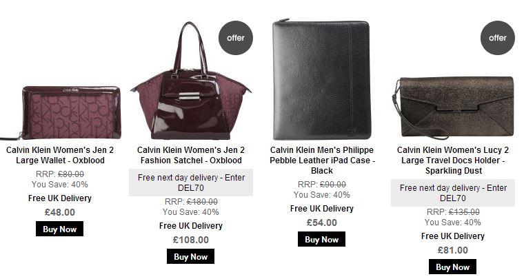 大牌云集,折扣给力【Calvin Klein ,French Connection ,Paul's Boutique 等】时尚美包该页面下秘密特卖Up to 60%OFF+折上20%OFF