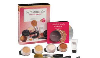 全球包邮【bareMinerals】该页面下两个9件套彩妆套25%OFF+折上20%OFF