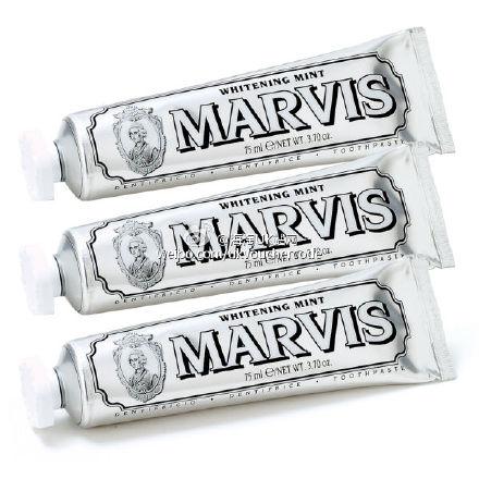 全球包邮【Marvis】玛尔斯牙膏经典银色美白薄荷味道25%OFF