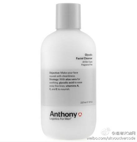 男人洗面奶【Anthony Logistics Glycolic Facial Cleanser】安东尼果酸洁面25%OFF