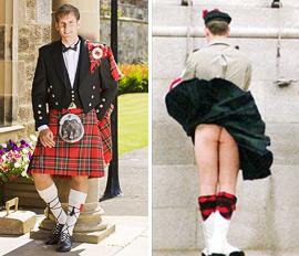 震惊啊!原来穿苏格兰裙是不能穿内裤的