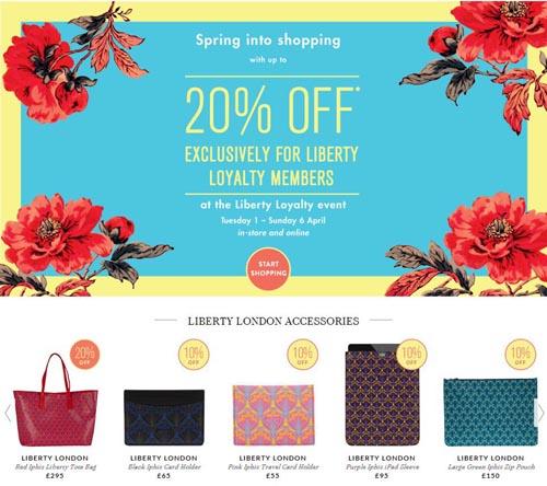 【Liberty】该页面下女装全线40%OFF,鞋子全线30%OFF