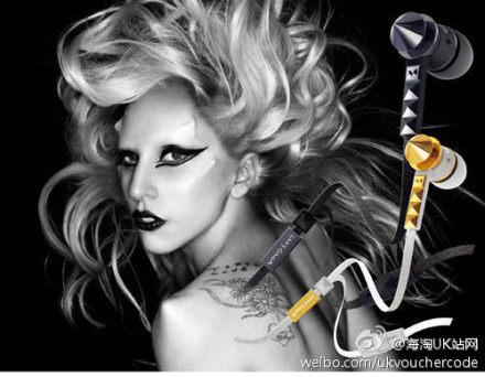 潮人必备Beats魔声 Lady GaGa耳机54%OFF+折上20%OFF后只需£47.99