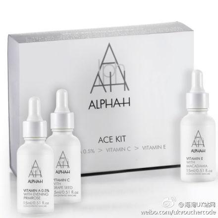 【Alpha-H】Skin Loving Vitamins维生素套装39%OFF+折上25%OFF只需£33.75+满40镑送她家33镑套装