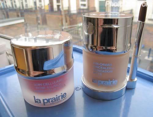 La Prairie底妆组合—鱼子粉霜+玫瑰霜
