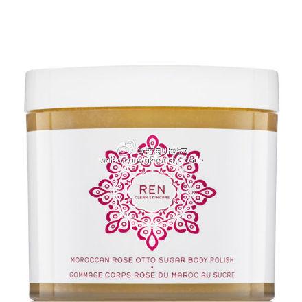 【REN】摩洛哥玫瑰蔗糖身体磨砂膏30%OFF