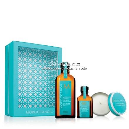 【MoroccanOil】摩洛哥油125ml发油套装25%OFF+折上25%OFF只需£27+送£12.95他家蜡烛+送沙滩包