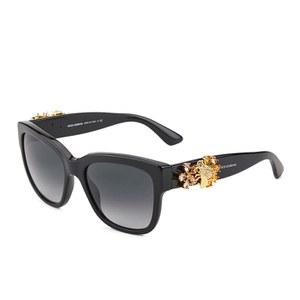 【Dolce & Gabbana】D&G 经典黑框太阳镜镶蜂花款60%OFF+折上10%OFF