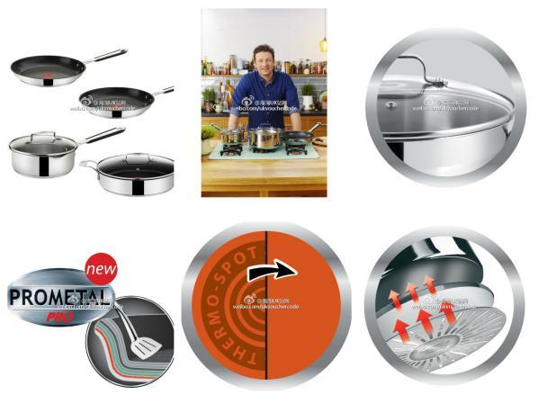 【Jamie Oliver x Tefal】知名主厨Jamie Oliver 和Tefal的合作款四件套锅折后只要89