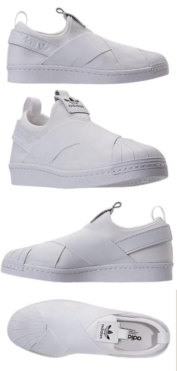 【Adidas】全智贤同款三叶草Originals系列白色一脚蹬近50%OFF只需.74,约234元