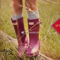 【Hunter】深葡萄红高筒雨靴40%OFF