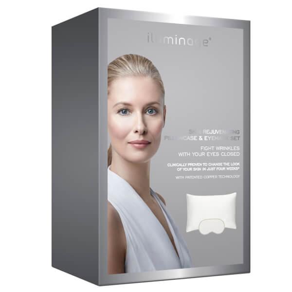 【Iluminage】白色枕头和眼罩套装40%OFF