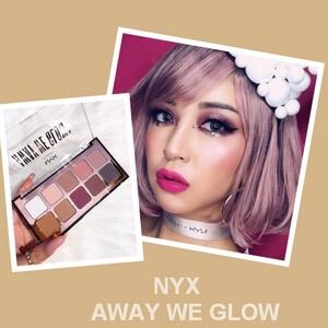 【NYX】Away We Glow 10色眼影盘20%OFF只需大概RMB125