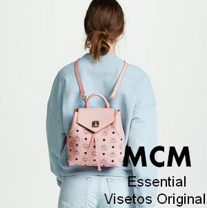【MCM】Essential Visetos Original 粉色款小号双肩包6浙,只要$495
